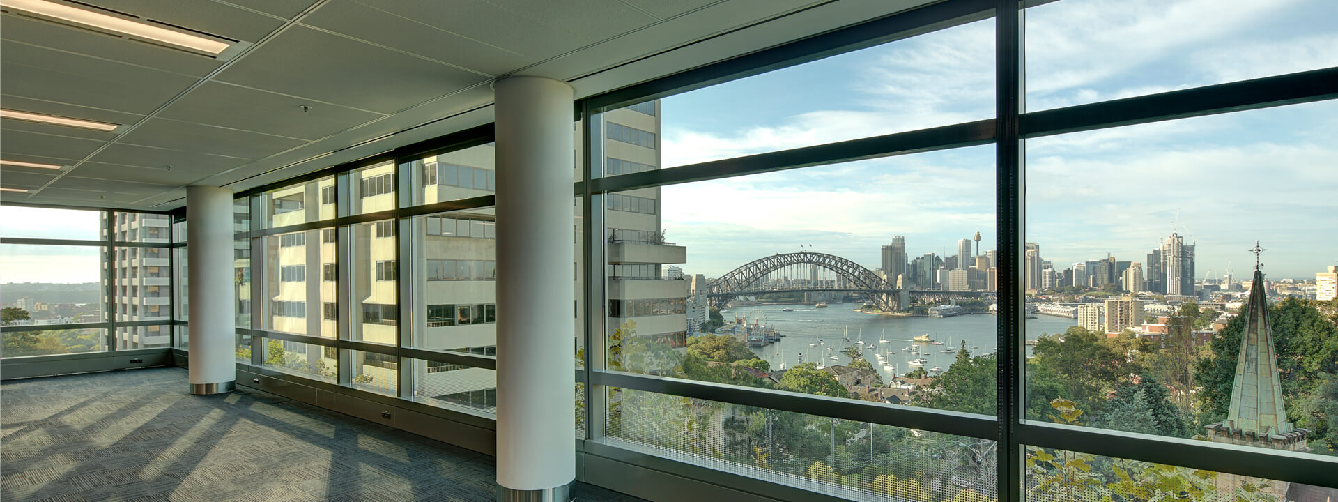 view to Harbour Bridge from the office building
